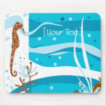 Seahorse Seascape Mousepad