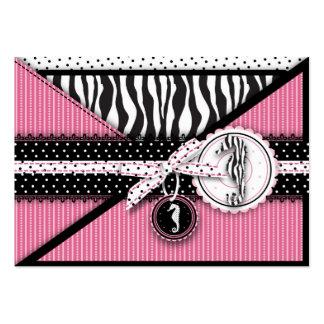 Seahorse Sensation Pink Reminder Card Business Card Templates