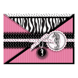 Seahorse Sensation Pink Reminder Card Pack Of Chubby Business Cards