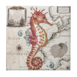 Seahorse Shabby Tile