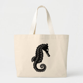 Seahorse Silhouette Tote Bags
