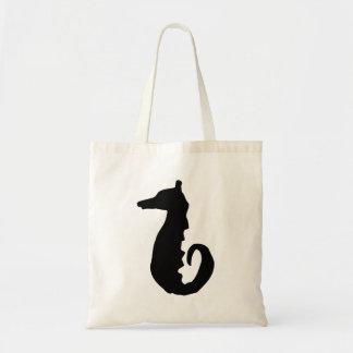 Seahorse Silhouette Canvas Bags