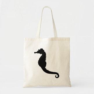 Seahorse Silhouette Canvas Bag