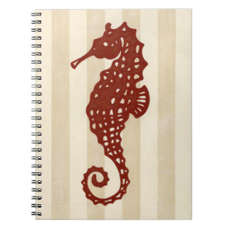 Seahorse Silhouette Spiral Notebook