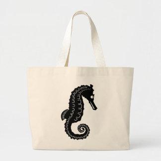 Seahorse Silhouette Jumbo Tote Bag