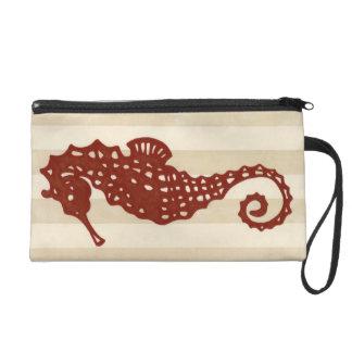 Seahorse Silhouette Wristlet Clutches