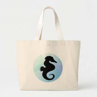 Seahorse Silhouettes Tote Bags