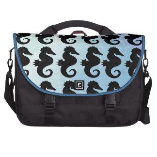Seahorse Silhouettes Laptop Commuter Bag