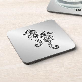 Seahorse Silver Coaster