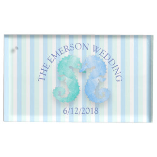 Seahorse Table Number Card Holder for Wedding