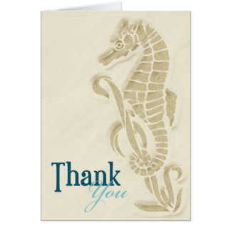 Seahorse Thank You Card