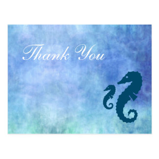 Seahorse Thank You Postcard