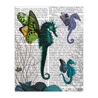 Seahorse Trio With Wings Acrylic Wall Art