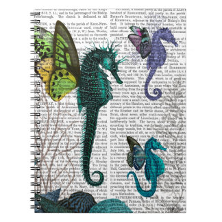 Seahorse Trio With Wings Note Book