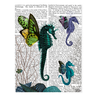 Seahorse Trio With Wings Postcard