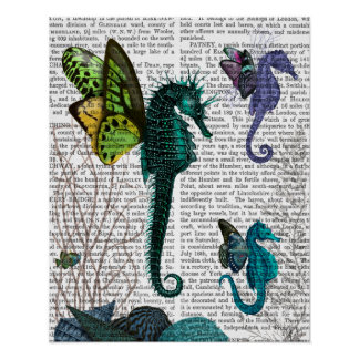 Seahorse Trio With Wings Poster