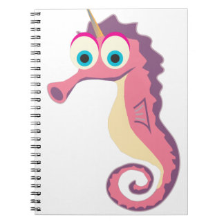 Seahorse Unicorn Cute Spiral Notebook
