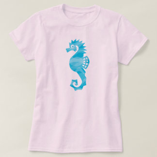 Seahorse with aqua waves T-Shirt