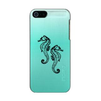 Seahorses Aqua Incipio Feather® Shine iPhone 5 Case