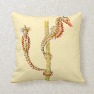 Seahorses Beach house Accent Pillow