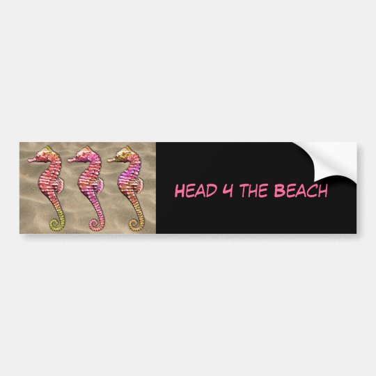 Seahorses on the Sand Bumper Sticker