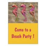 Seahorses on the Sand Greeting Card