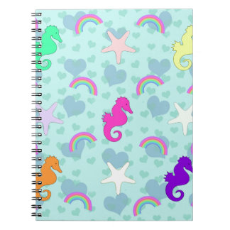 Seahorses, Rainbows and Starfish Design Notebooks