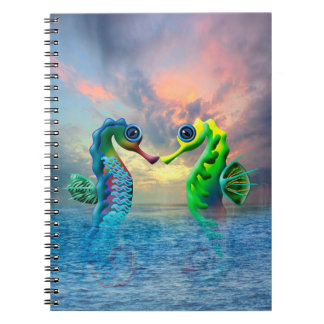Seahorses Spiral Note Books