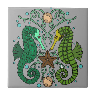 Seahorses Tile