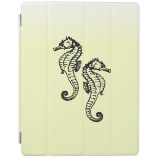Seahorses Yellow iPad Cover