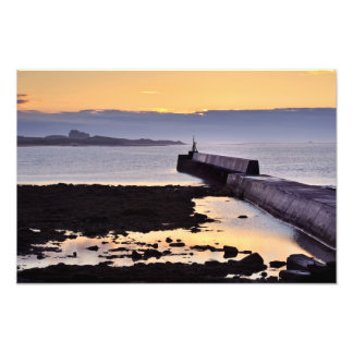 Seahouses Sunset, Northumberland photo print