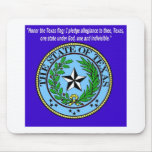 Seal and Pledge of Texas Mouse Pad