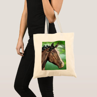Seal Bay Thoroughbred Horse Tote Bag