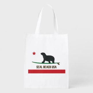 Seal Beach USA Reusable Grocery Bag