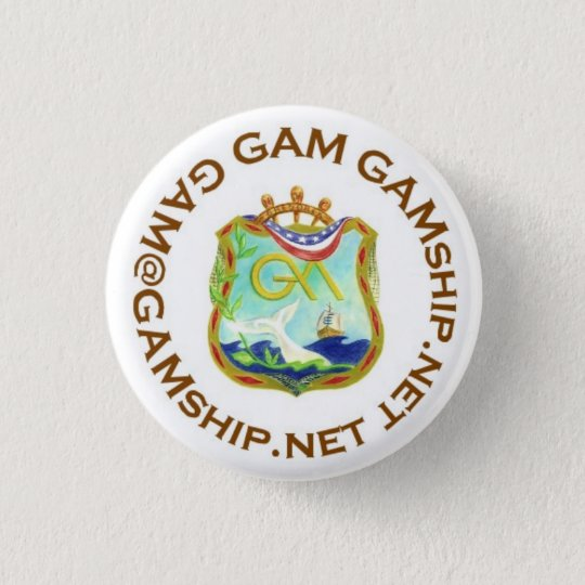 seal brown 3 cm round badge
