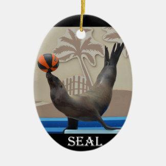 Seal (California Sea Lion) Ceramic Oval Decoration