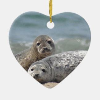 Seal Ceramic Heart Decoration