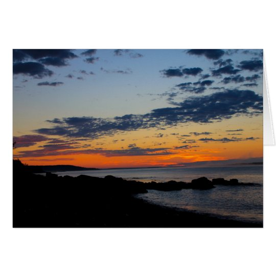 Seal Cove Sunrise, Grand Manan Card