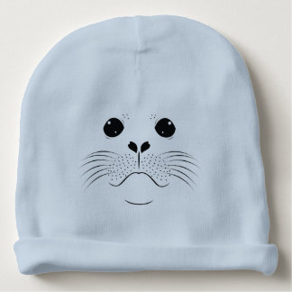 Seal face silhouette baby beanie