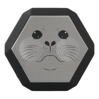 Seal face silhouette black bluetooth speaker