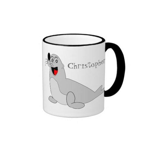 Seal Just Add Name Coffee Mugs