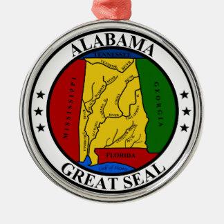 Seal of Alabama Christmas Tree Ornament