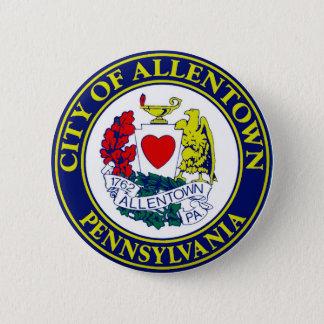 Seal of Allentown, Pennsylvania 6 Cm Round Badge