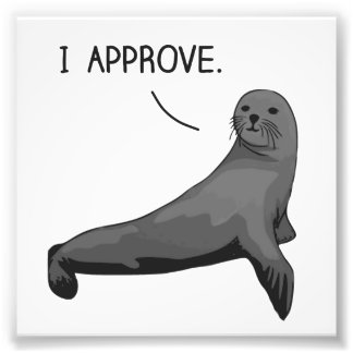 Seal of Approval Photo Print