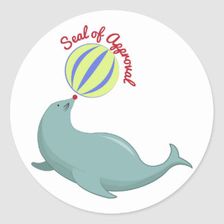 Seal of Approval Round Stickers