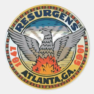 Seal of Atlanta, Georgia Round Sticker