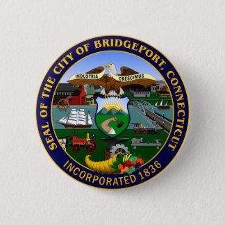 Seal of Bridgeport, Connecticut 6 Cm Round Badge
