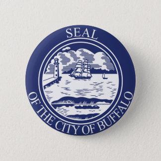 Seal of Buffalo, New York 6 Cm Round Badge