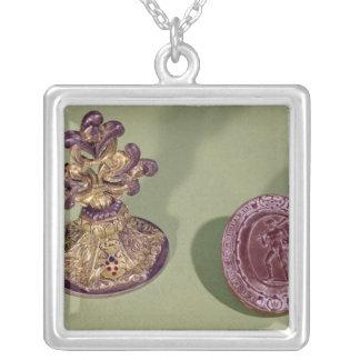 Seal of Cosimo de Medici Silver Plated Necklace