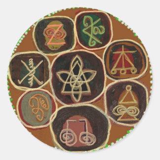 SEAL of HEAL :  Karuna Reiki Emblem Round Stickers